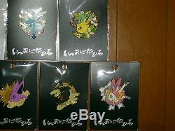 Centre Pokémon Evoli Collection Pins Colorés Complete 9 Badge Set Umbreon Sm