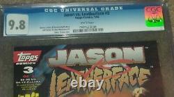 Cgc 9.8 Ensemble Complet Jason Vs Leatherface Versus Topps Comic Book 1-3 1 2 3 Lot
