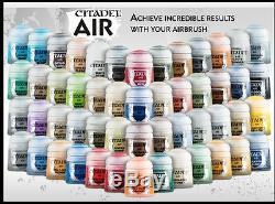 Citadel Air Paints Ensemble Complet 52 Couleurs, Games Workshop Warhammer 40k Aos, Nouveau