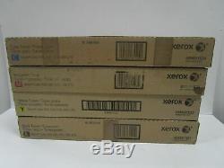 Couleur De Toner Xerox 550 Véritable 560 570 C60 C70 Ensemble Complet Cmyk New Sealed