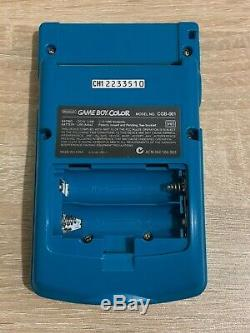 Couleur Gameboy Teal Complète Dans Une Boîte Avec Jeu Et Jeu De Batterie Rechargeable