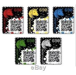 Crypto Stamps Ensemble Komplett, Alle Farben! Complet, Toutes Les Couleurs! Nouveau! Menthe