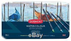 Derwent Crayons Aquarelle Professionnel 72 Tin Set Complet De Couleurs