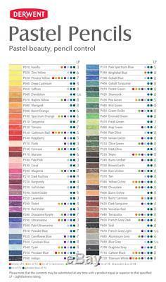 Derwent Professional Pastel Crayons 72 Boîte En Bois Ensemble Complet De Couleurs