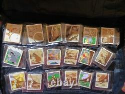 Disney Stamp Mystery Collection Chaser Set Complete Pin Set Couleur Avec Des Chasseurs