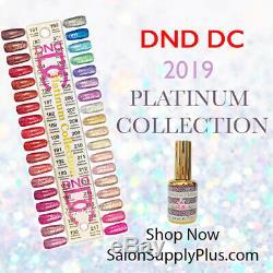 Dnd DC Gel 2019 Platinum Glitter Ensemble Complet De 36 Couleurs + Tableau Des Couleurs