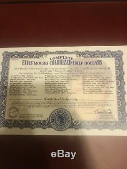 Elvis Films Colorisation Half Dollars Ensemble Complet By The Morgan Mint