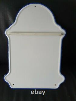 Émail Spoon Rack Wall Mounted White Color Scarce Complete Set Néerlandais