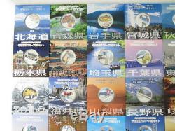 Ensemble Complet De 47 Préfectures 1000 Yen 1 Oz Argent Couleur Preuve Japonaise Monnaie