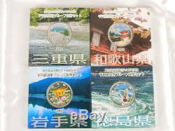 Ensemble Complet De 47 Préfectures 1000 Yen 1 Oz Couleur Argent Proof Coin Japonais