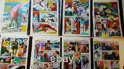 Ensemble Complet De Daredevil #145 Color Guides 1977 George Tuska Art Marvel Mania