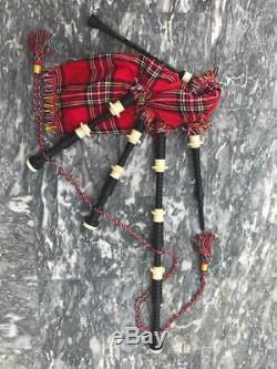 Ensemble Complet De Monture En Plastique De Couleur Ivoire Abw Great Highland Cornemuse Écossaise