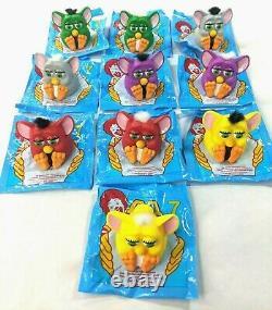 Ensemble Complet Furby Tous Les 80 Couleurs Variations 1998 Nos Mcdonalds Happy Meal Toy