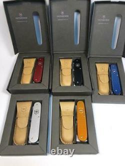 Ensemble Complet Victorinox 2012 Alox Cadet 5 Colors Series 84mm Couteau Suisse Rare