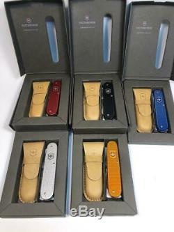Ensemble Complet Victorinox 2012 Alox Cadet 5 Couleurs Série 84mm Rare