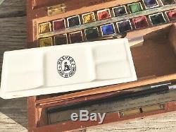 Ensemble De Boîtes De Couleur Vintage Reeves Students N ° 29 Dans Une Boîte En Bois Complète
