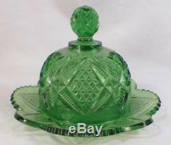 Ensemble De Table À Jouets Pour Enfants Pennsylvania Green Eapg Verre Us Antique 15048 Rare Complet