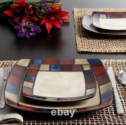 Ensemble De Vaisselle Pour 8 Stoneware Dinner Service 32 Piece Plates Bowls Mug Discount