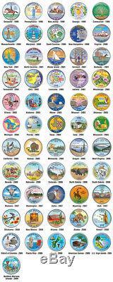 États-unis Statehood Quarters Colorized Legal Tender 56 Coin Withcapsules Set Complet