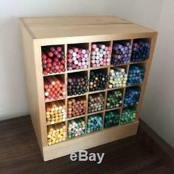 Felissimo 500 Crayons De Couleur Boîte De Caisse En Bois Complète Stockée Ensemble De Papeterie