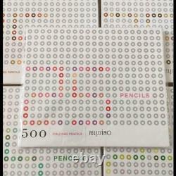 Felissimo 500 Crayons De Couleur Crayons De Couleur Ensemble De 500 Complète 1 Boîte 25 Couleurs