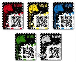 First Crypto Stampme Ensemble Complet De 5 Et Toutes Éditions De Couleur Ethereum Mint