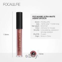 Focallure 25 Couleurs Longue Durée Étanche Rouge À Lèvres Mat Liquide Brillant À Lèvres 3