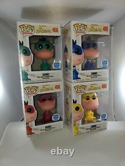 Funko Pop! Le Flintstones Dino Funko Shop Color Set Complete Le2500 #406