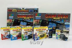 Game Gear Micro 4 Color Complete Set + 16 Pins + Luxury Collection Box Set Nouveau