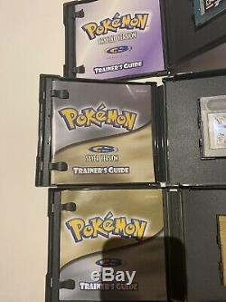 Gameboy Pokémon Cristal Or Argent Couleur Complète Lot Jeu Set Go Boîte Manuelle