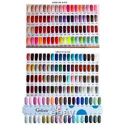 Gelixir Gel Duo Polonais (gel + Laque Correspondants) Complete 180 Color Set