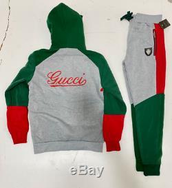 Gucci Survêtement Haut Et En Bas Brand New Complete Set Livraison Gratuite Assortiment