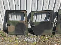 Hmmwv M998 Trois Couleurs Camouflage Souples Portes. Ensemble Complet