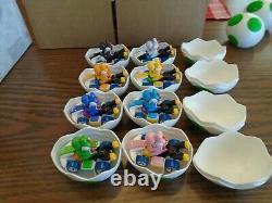 Hot Wheels Mario Kart Ensemble Complet De 8 Yoshi Mystery Eggs New Colors