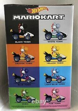 Hot Wheels Mario Kart Yoshi Mystery Egg Ensemble Complet Toutes Les 8 Couleurs Neuves Et Scellées