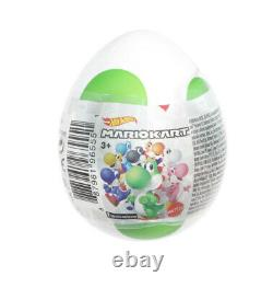 Hot Wheels Nintendo Mario Kart Ensemble Complet De 8 Yoshi Mystery Eggs New Colors