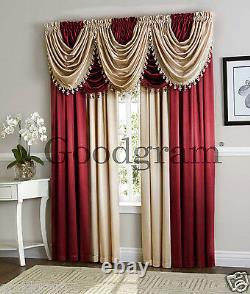 Hyatt Complete 9 Piece Fancy Window Treatment Set Couleurs Assorties