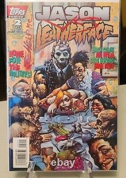 Jason Vs. Leatherface Ensemble Complet 1-3 Topps Comics Nm- Haute Qualité 1995 Bisle