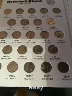 Jeu Complet Argent / Clad Roos. Dimes 1946 2019 En Full Color Em Dossiers Coin