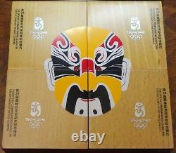 Jeux Olympiques 2008 Beijing 10 Yuan Coloré 1 Oz Silver Series 1 Ensemble Complet De 4