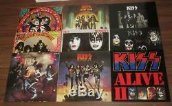 Kiss The Originals 1974-1979 Japan 11 Couleur Lp Box Tous Les Inserts Ensemble Complet