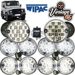 Land Rover Defender Set Complet 10 Kit De Mise À Niveau De La Lumière De La Lampe Rdx Wipac Ring