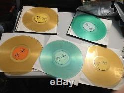 Led Zeppelin La Marque Complète Des Années De Qualité Colorées Bootleg Lp Set Rare