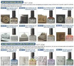 M. Hobby Altération Couleur Modèle En Plastique Filtre Wc Liquide 1-12 Complete Set 40ml