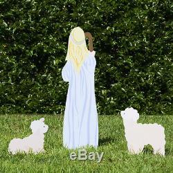 Magasin De La Nativité En Plein Air Ensemble Complet De La Nativité En Plein Air (standard, Couleur)