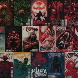 Marvel Comics Carnage #1-16 Lot De Livre Conway Perkins Série Complète Ensemble De Course Complète