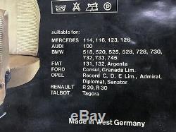 Mercedes Benz W126-w116-w123-w114 Housse Ensemble Sièges Couvercle Velvet Brown Couleur