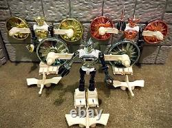 Micronauts Acroyear Set Original Mego Les 3 Couleurs Ensemble Complet