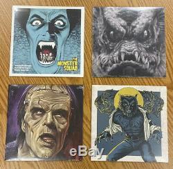 Mondo 7 Monster Squad Jeu Complet De 4 Couleur Vinyle Album Sealed Rare Nouveau