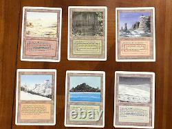 Mtg Revised Dual Lands Ensemble Complet 10 Cartes Lp/mp Toutes Combinaisons De Couleurs